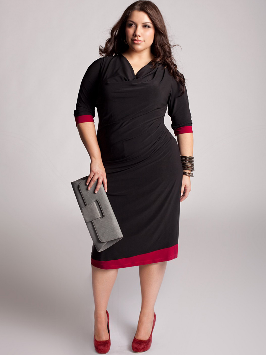 All Black Plus Size Party Dresses : Make You Look Thinner ...