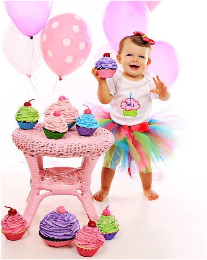 e022b8777ff8 Baby Girl First Birthday Dress Designs   Be Beautiful And Chic ...