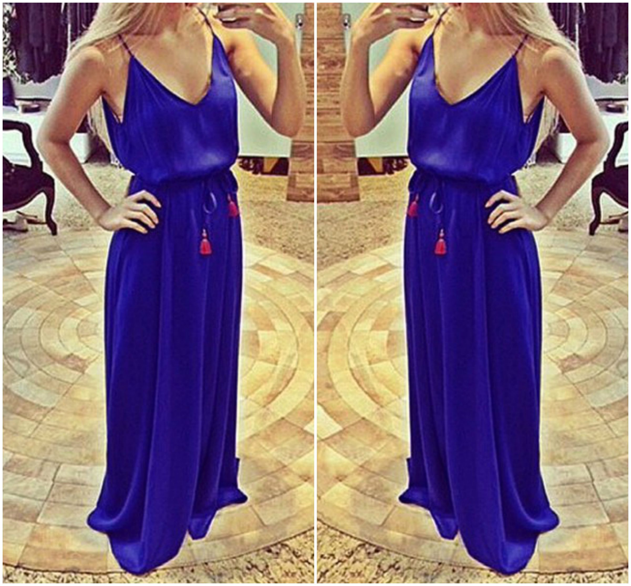 Bebe Royal Blue Dress - Fashion Show Collection