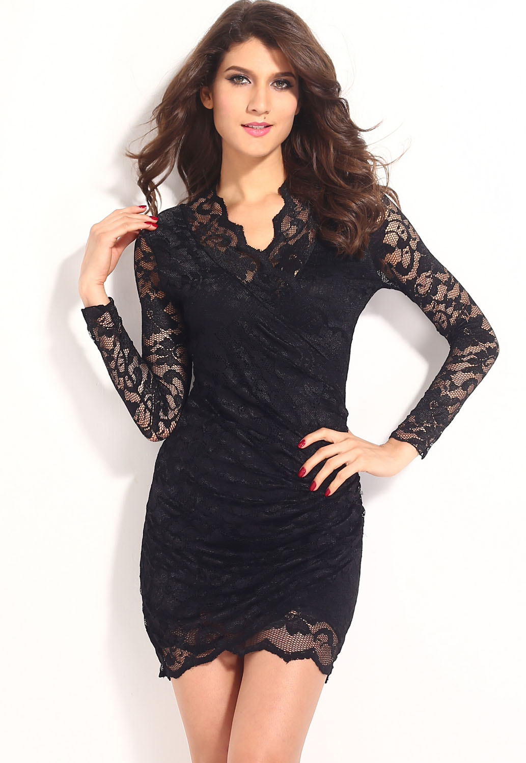 Black Lace Scalloped Dress : Beautiful And Elegant