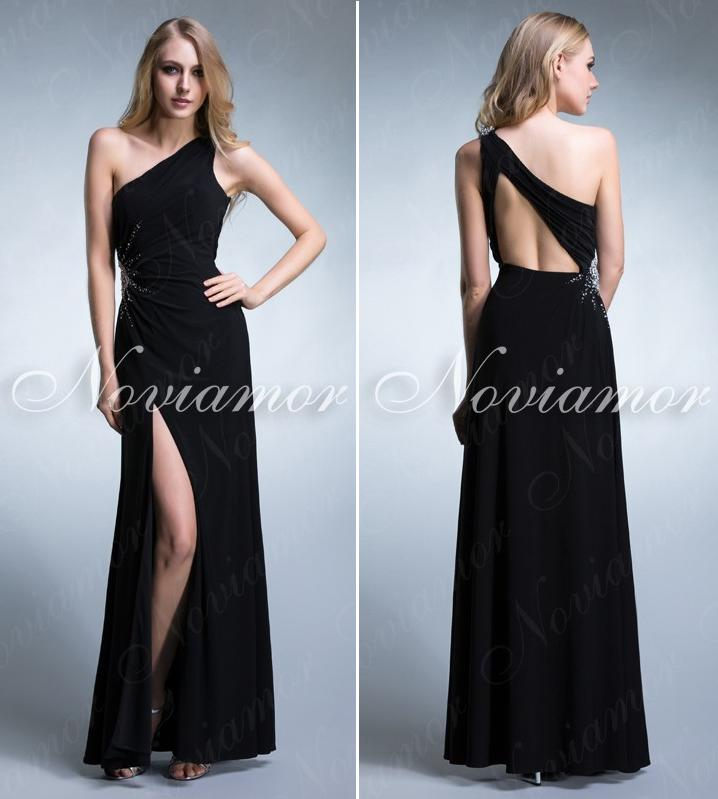 Black Long Elegant Evening Dresses And Oscar Fashion Review ...