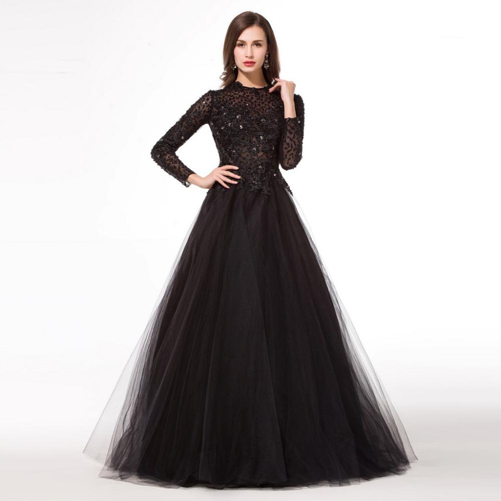 9e99a3c079e Black Long Sleeve Full Length Dress And Make Your Life Special ...