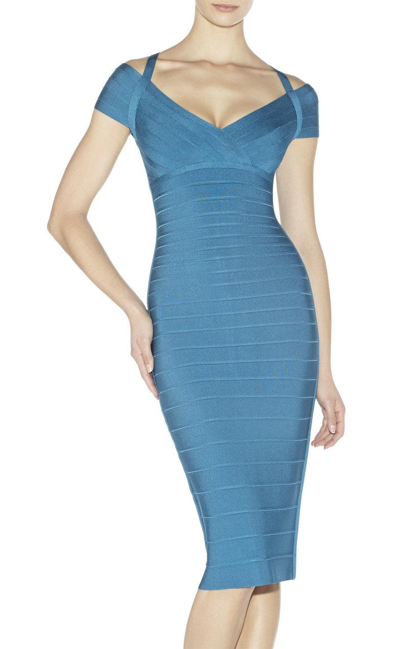 Black Off The Shoulder Bandage Dress : Online Fashion Review