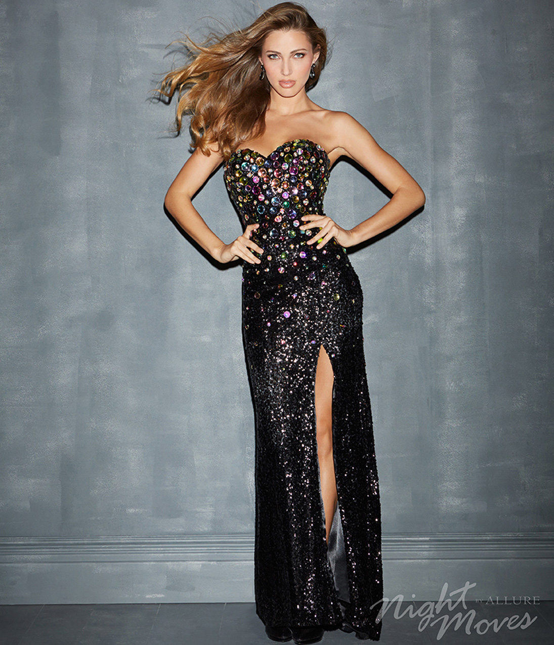 Black Strapless Sequin Dress - New Fashion Collection - Dresses Ask