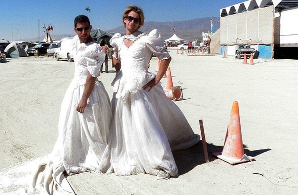 Boys Wearing Bridal Gowns