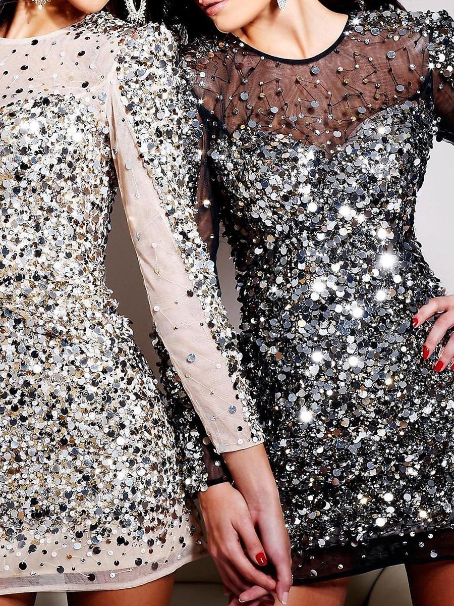 Модные платья со стразами
