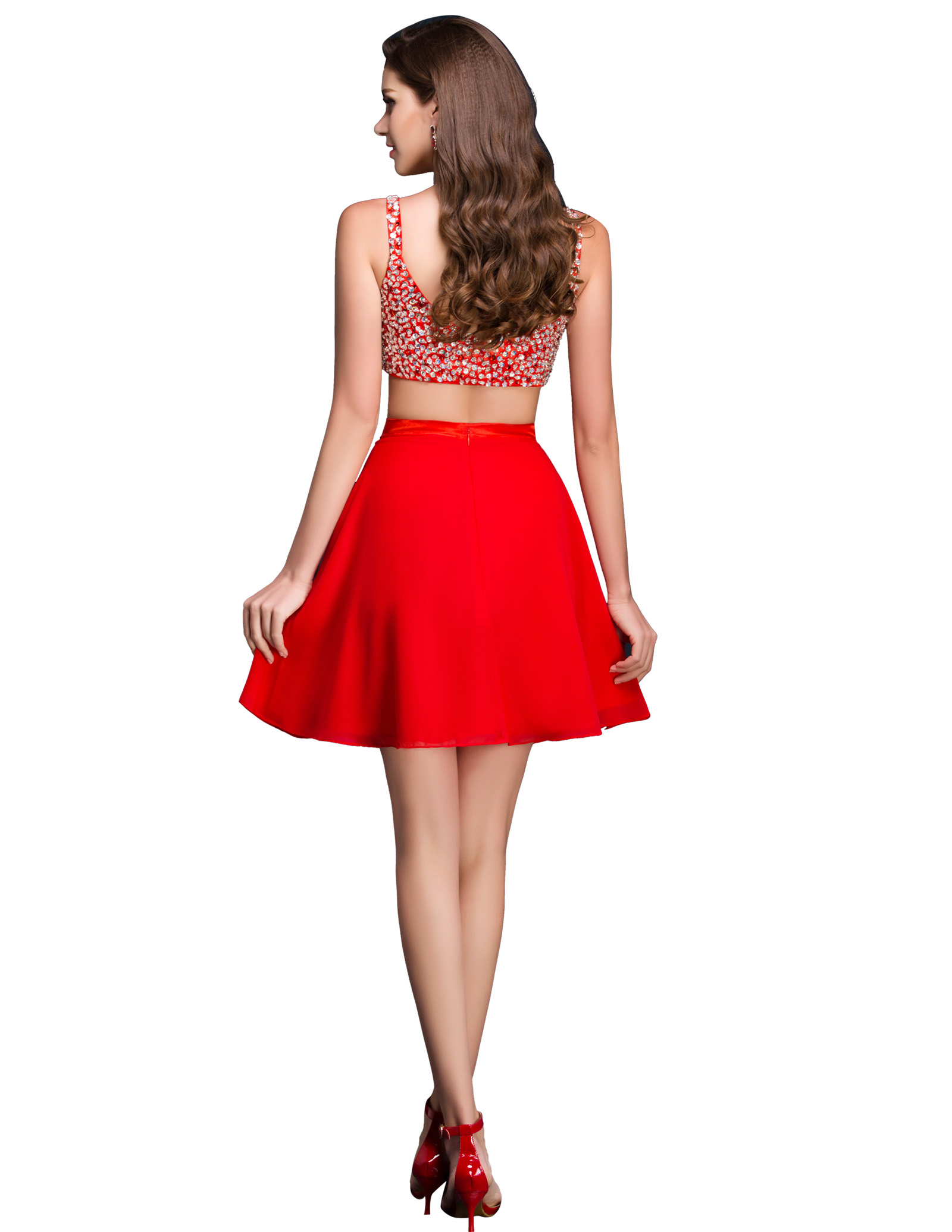 Cocktail Two Piece Dress - Elegant And Beautiful