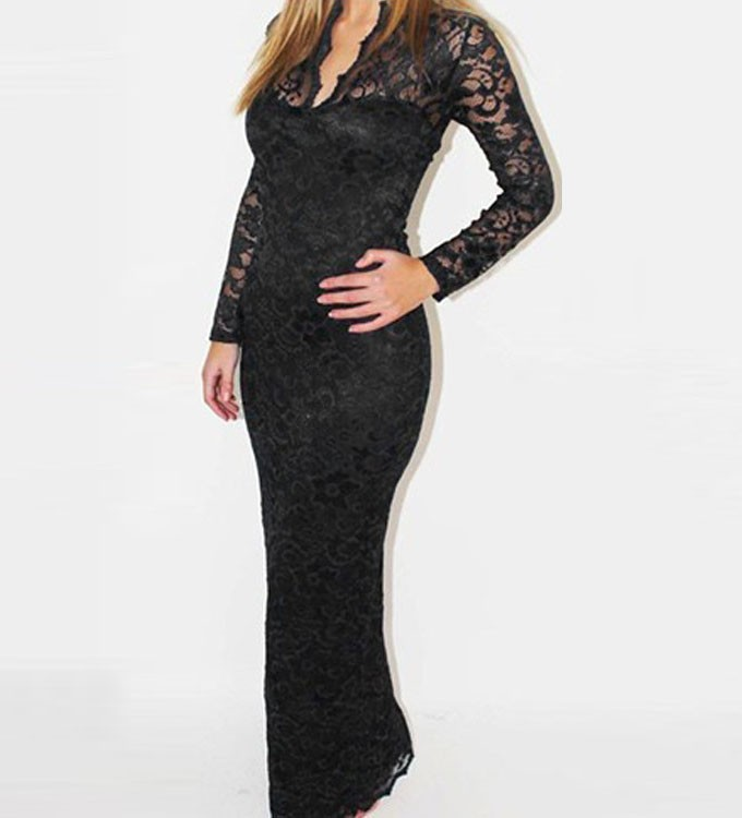 b059e53ab872 Dark Blue Long Sleeve Lace Dress : Different Occasions - Dresses Ask