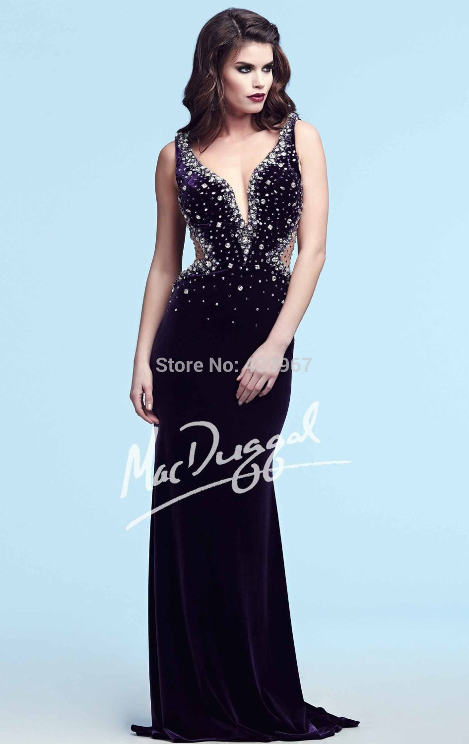 Deep Purple Evening Gowns - Fashion Show Collection