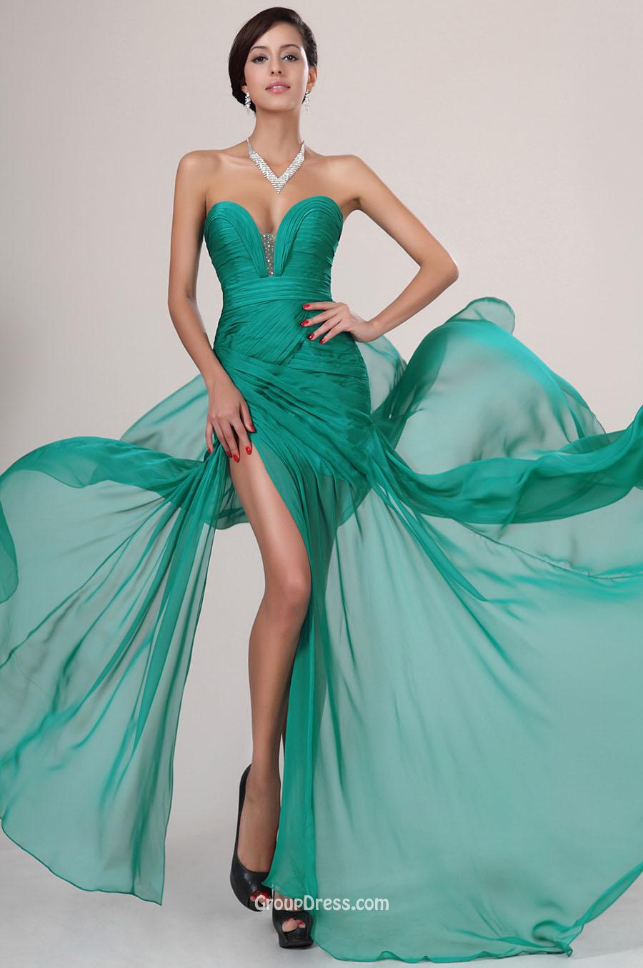 Emerald Blue Dress : Make You Look Thinner