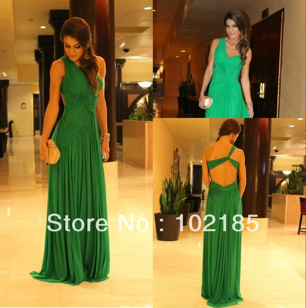 Emerald Green Floor Length Dress : Different Occasions