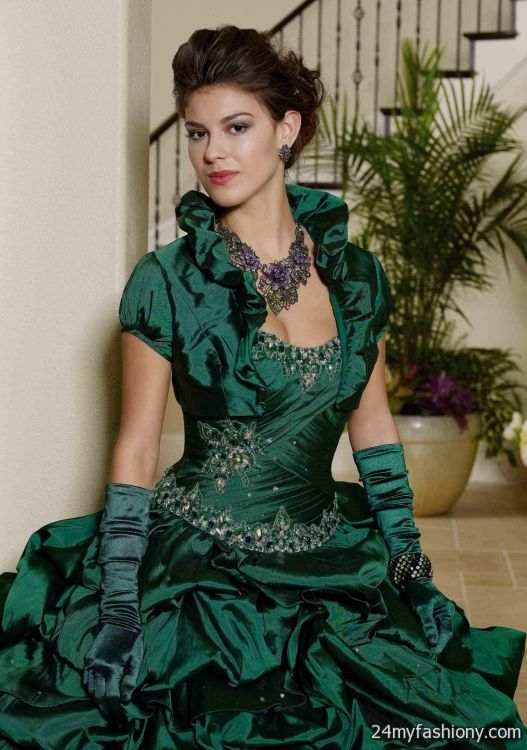 56e2053f7db You can share these emerald green quinceanera dresses on facebook.