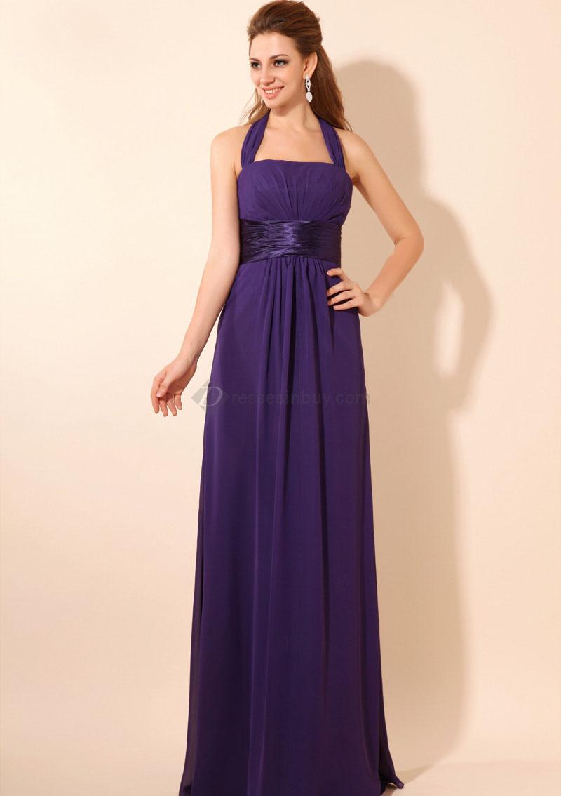 Purple Floor Length Bridesmaid Dresses Gallery - Braidsmaid Dress ...