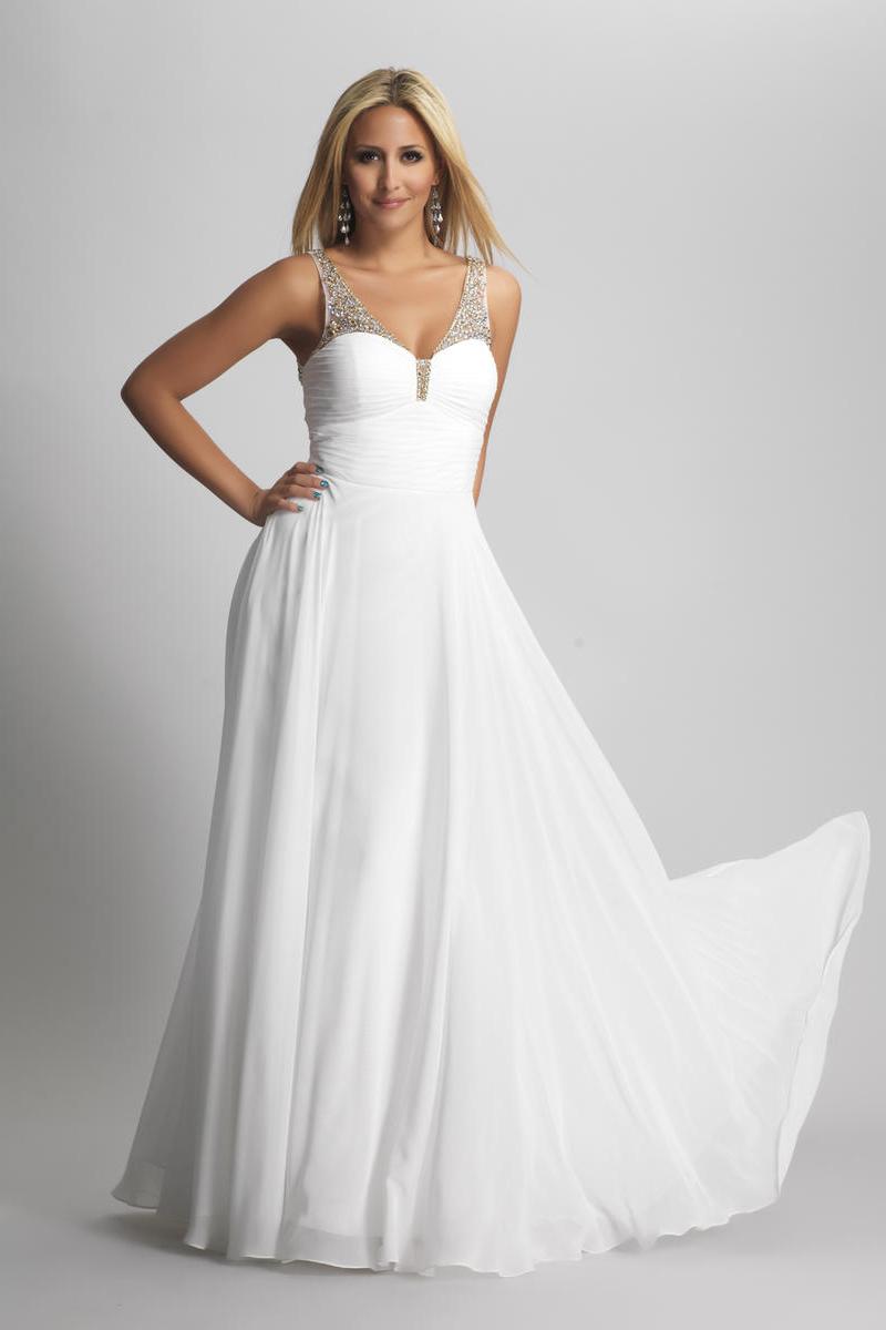 wholesale chiffon long white dress