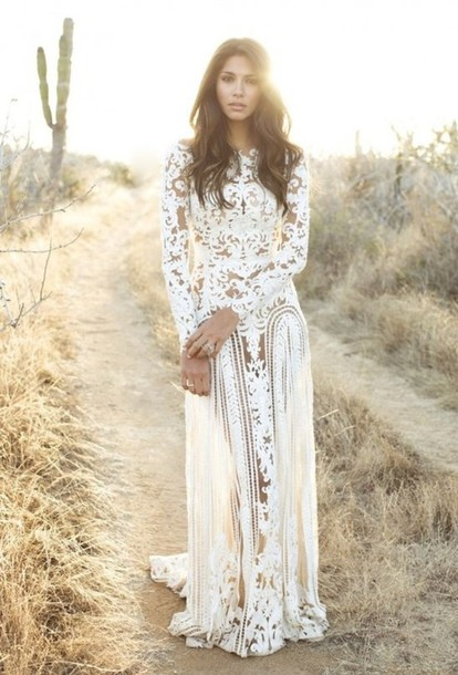 Floral Lace White Dress - New Fashion Collection