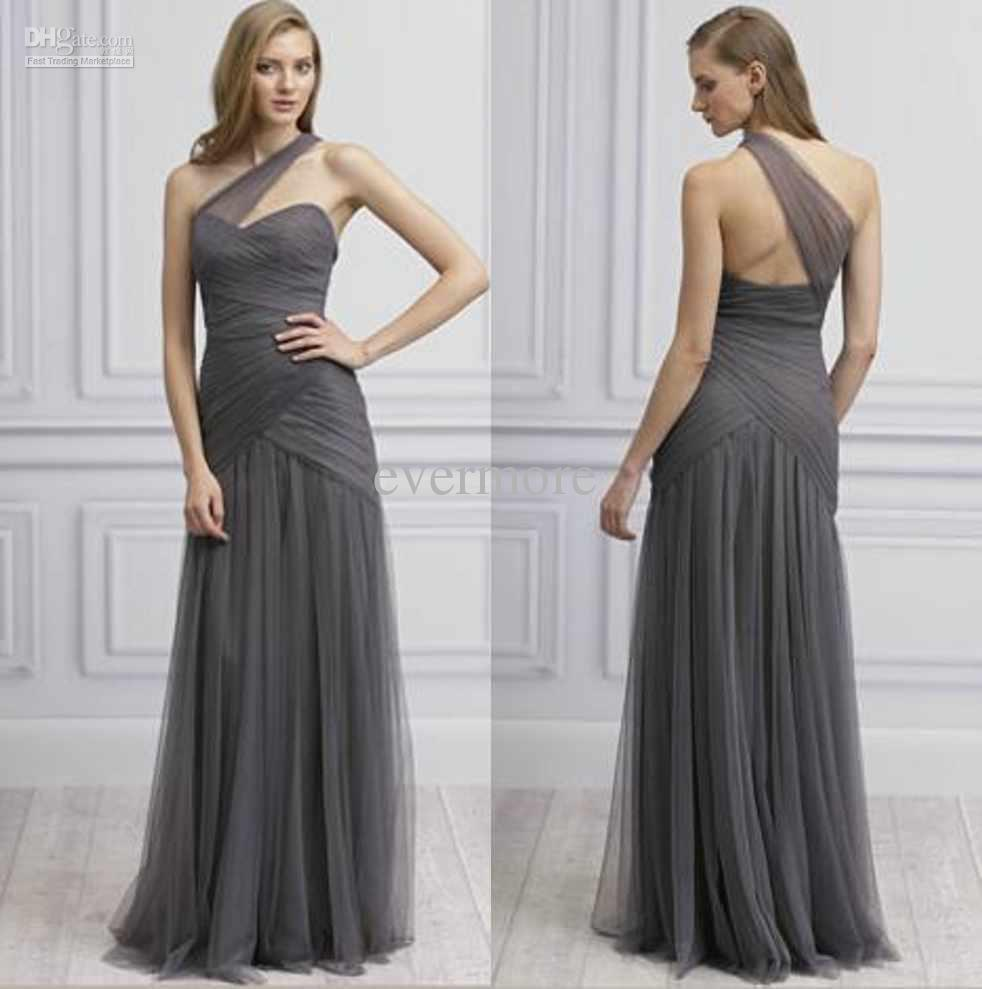 Gray Dress Bridesmaid - Wedding Dress Ideas