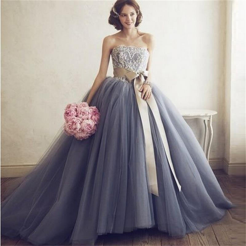 Grey Floor Length Bridesmaid Dresses : The Trend Of The Year ...