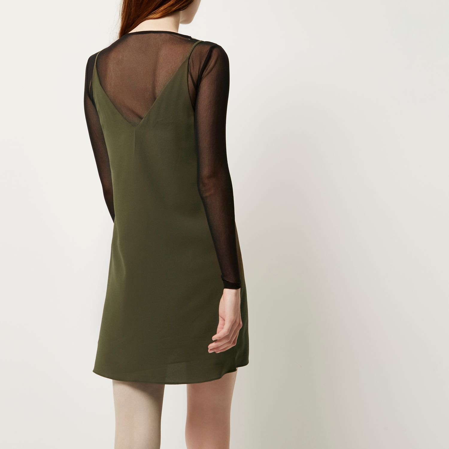 Khaki Dress River Island - Overview 2017