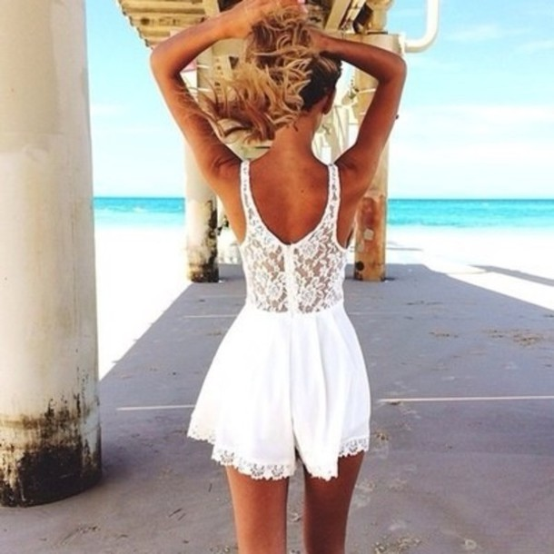 Lace Dress Beach - 18 Best Images