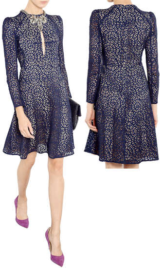 Lace Sleeve Fit And Flare Dress & New Trend 2017-2018