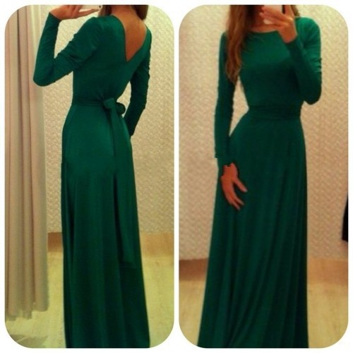 Long Sleeve Floor Length Maxi Dress : Details 2017-2018