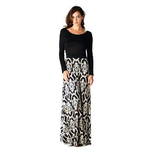 Long Sleeve Floor Length Maxi Dress : Details 2017-2018