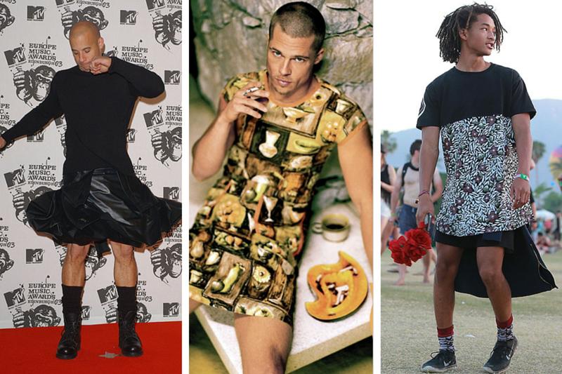 Image result for celebrity men wearing dresses