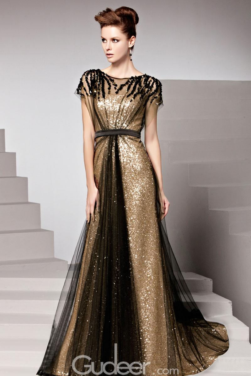 Metallic Dress Long : Make You Look Thinner