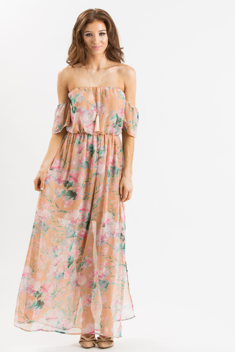 Off The Shoulder Peach Dress And Simple Guide To Choosing