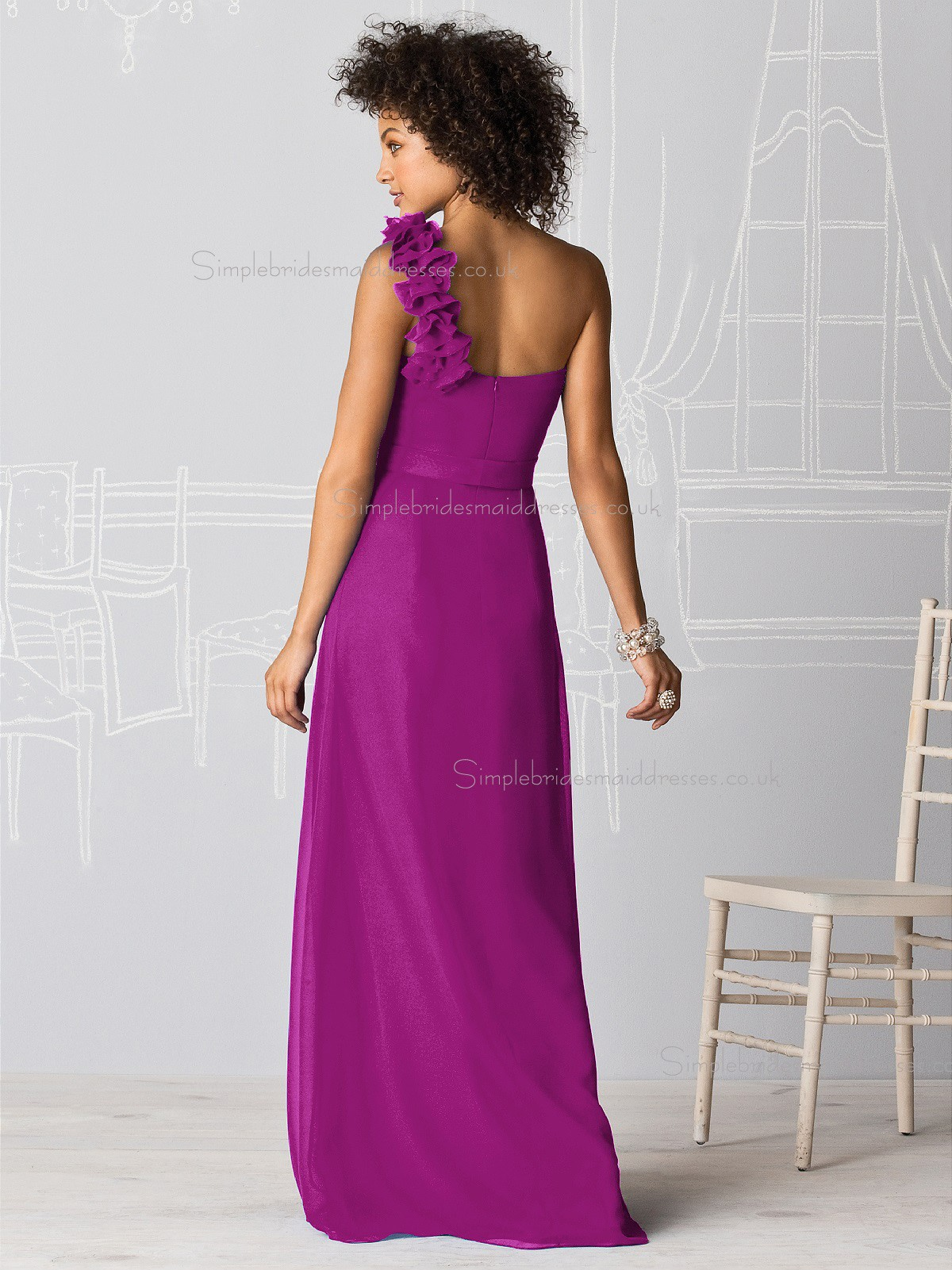Persian Plum Chiffon Bridesmaid Dresses – Fashion dresses