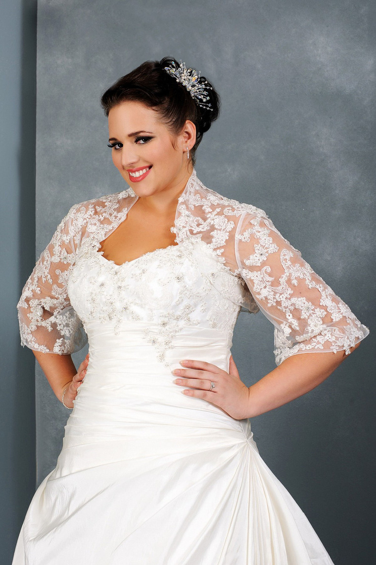 Plus size dress blazers better choice 2017 dresses ask fall plus size wedding dress with three quarter sleevessang maestro ombrellifo Images