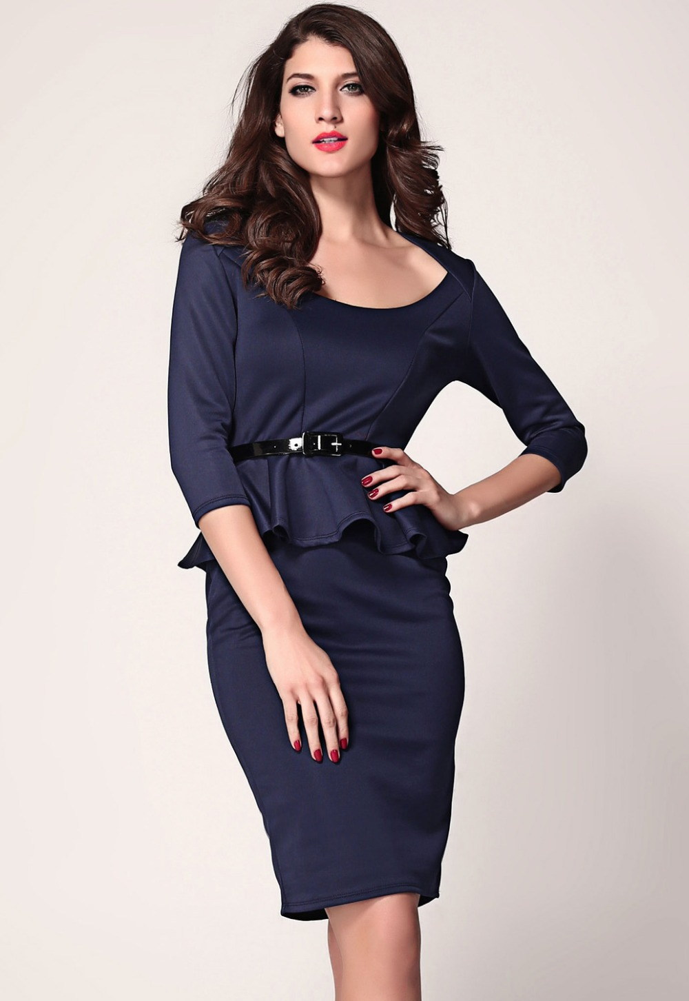 Plus Size Peplum Midi Dress Online Fashion Review