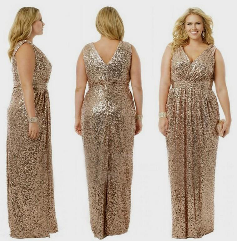 78028a785397f Plus Size Rose Gold Sequin Dress   Different Occasions - Dresses Ask