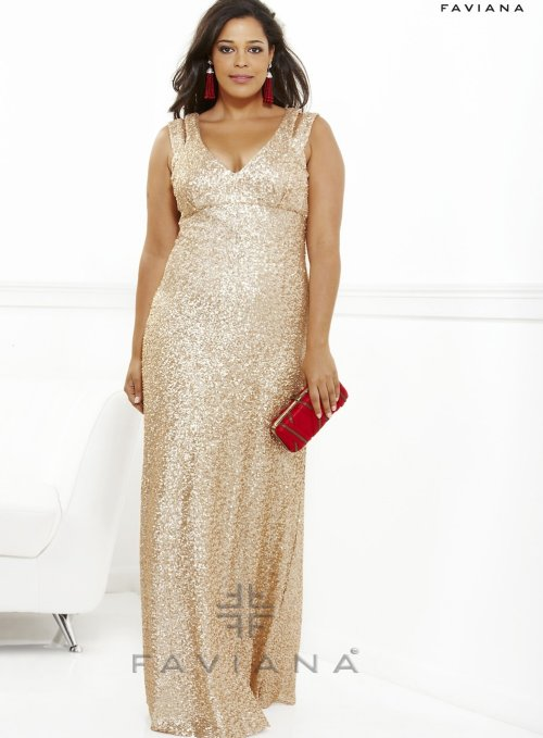 Plus Size Rose Gold Sequin Dress : Different Occasions - Dresses Ask