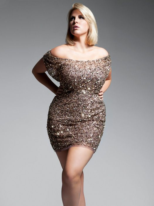 Plus Size Rose Gold Sequin Dress : Different Occasions ...
