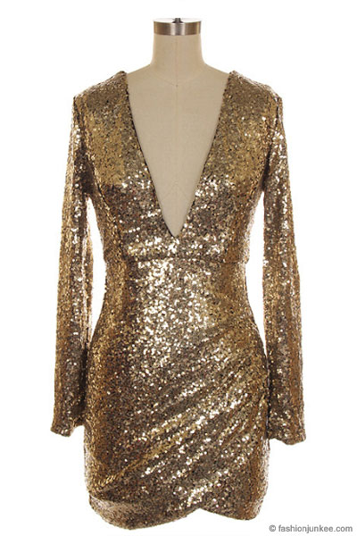 Plus Size Rose Gold Sequin Dress Different Occasions