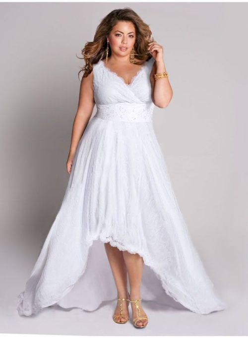 Plus Size White Dresses For A White Party - Elegant And ...