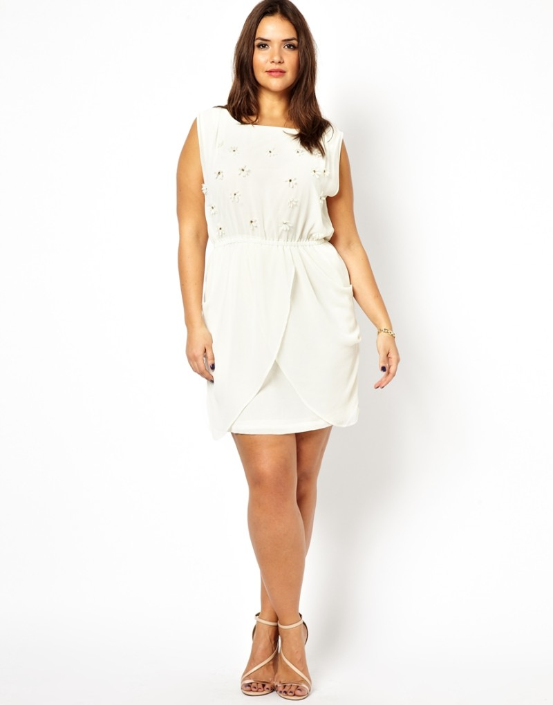 plus size white dresses for a white party - elegant and beautiful