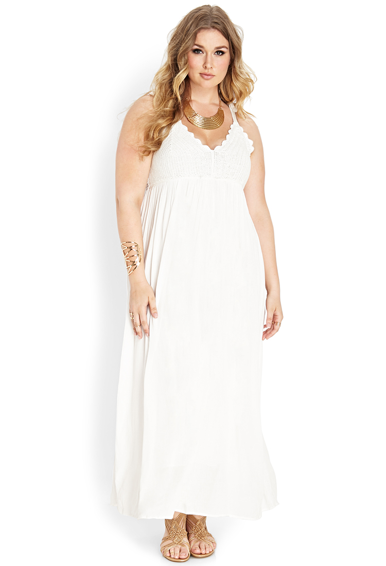 Plus Size White Dresses For A White Party Elegant And Beautiful