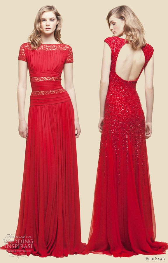 Red Backless Lace Dress And How To Look Good