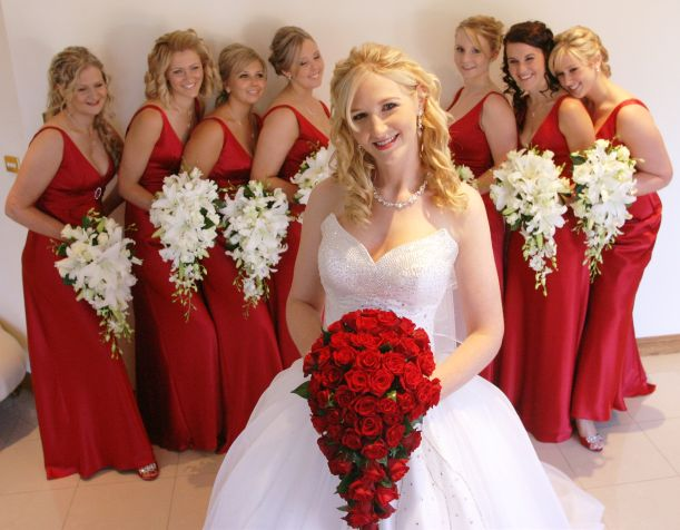 Red Black And White Wedding Bridesmaid Dresses 13 Jpg