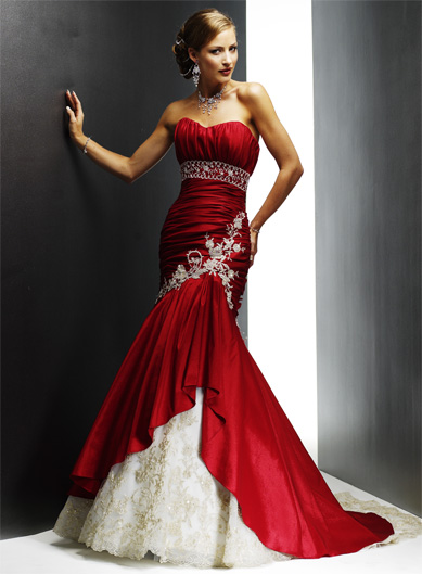 Red Black And White Wedding Bridesmaid Dresses - Overview 2017 ...