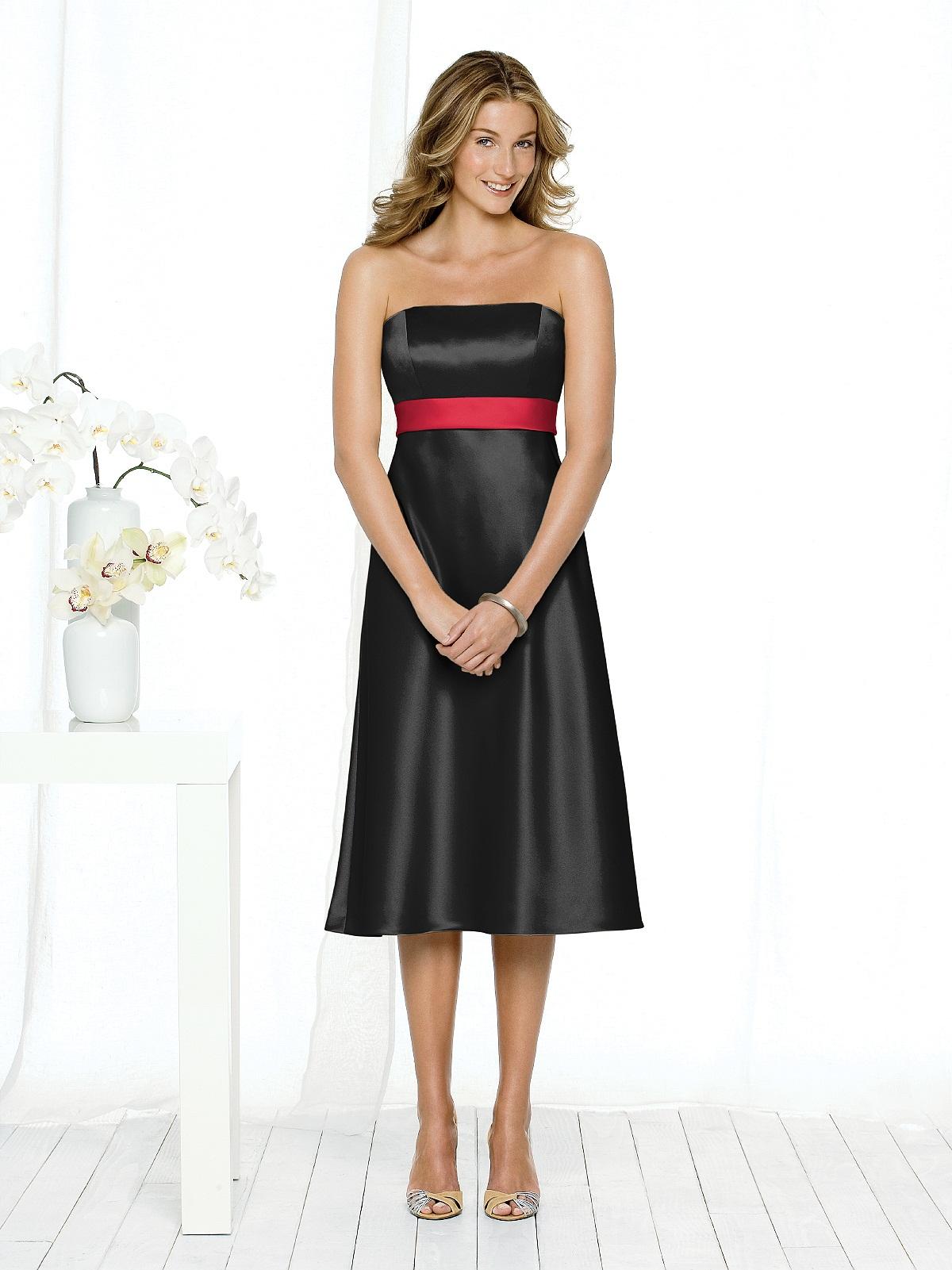 Red And Black Bridesmaid Dresses | Good Dresses