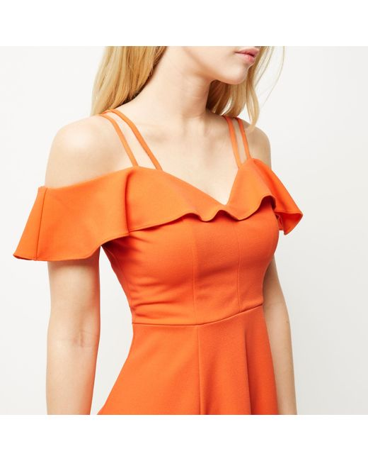 River Island Bardot Skater Dress And How To Look Good