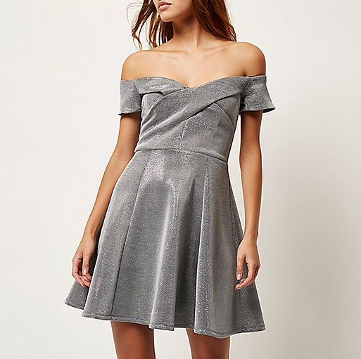River island bardot skater dress and how to look good Wedding guest dress river island