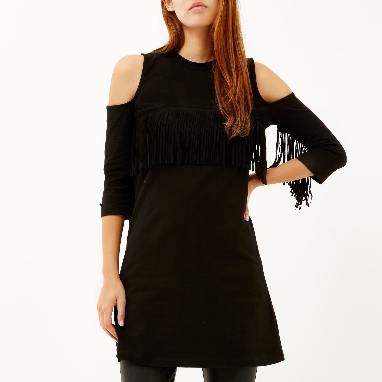 River Island Black Fringe Dress : Trends For Fall