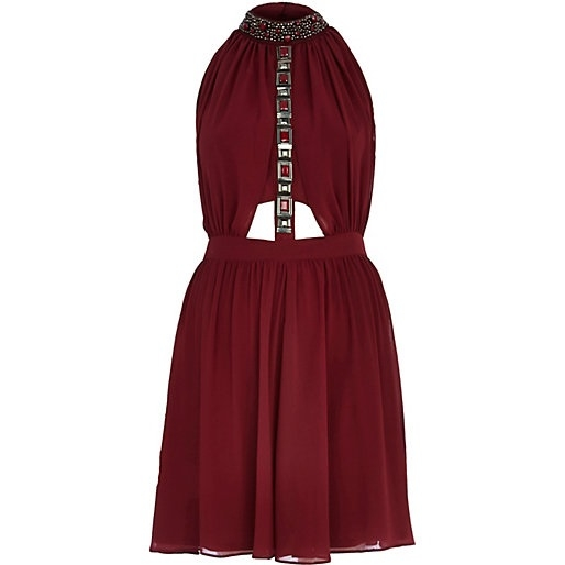 River Island Dark Red Dress : Online Fashion Review