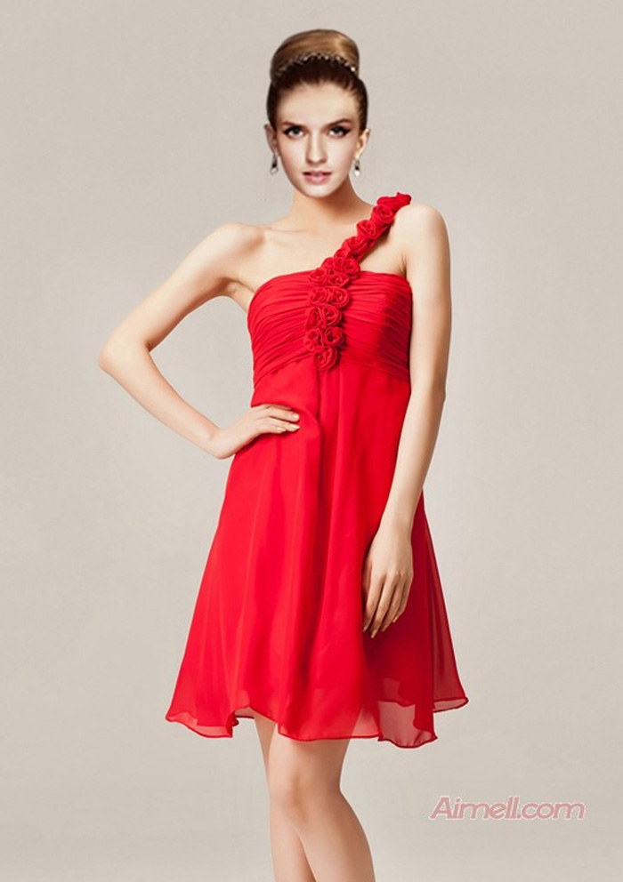 Simple Red Bridesmaid Dresses Spring Style