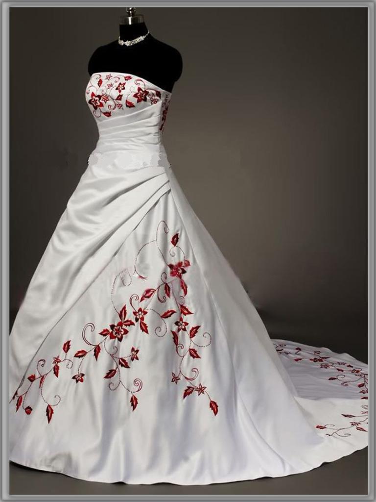 wedding dresses online red