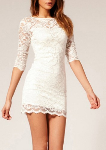 White Bodycon Short Dress : How To Look Good 2017-2018
